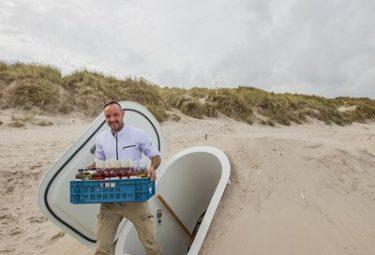 Современный пластиковый погреб в песчаном грунте
