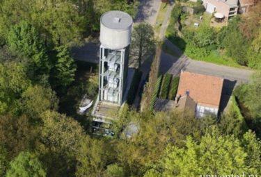 Водонапорная башня переделанная в шестиэтажный дом