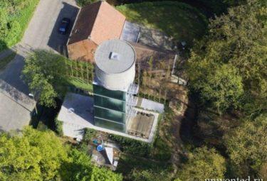 Водонапорная башня переделанная в дом Water Tower Brasschaat