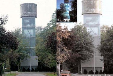 Водонапорная башня переделанная в дом Woning Moereels