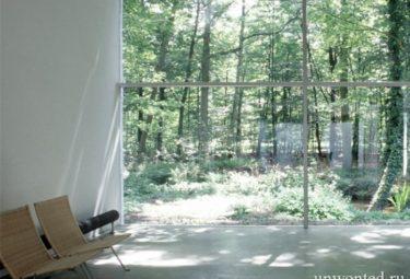 Вид из окон водонапорной башни переделанной в дом