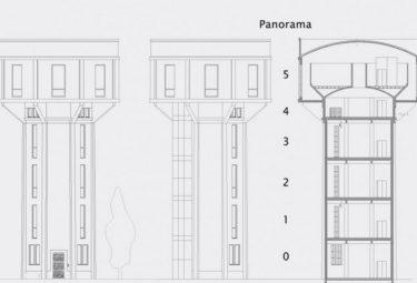 Бельгийский дом в водонапорной башне - поэтажный план