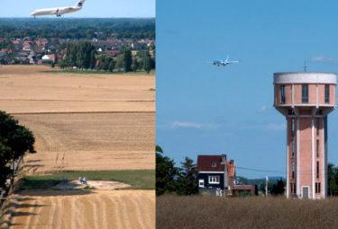 Бельгийский Дом в водонапорной башне - близко пролетающие самолеты