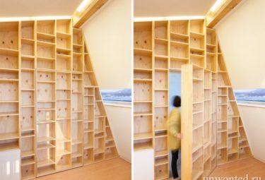 Дом Звездные Войны - комната скрытая за книжным шкафом