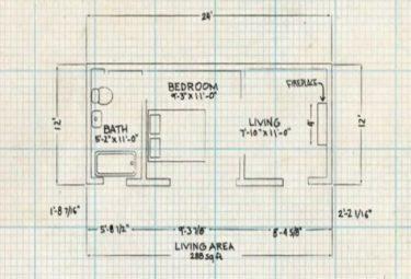 Схема планировки домика хоббита в Шире