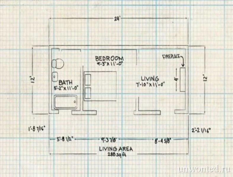 Схема планировки домика хоббита в Орондо