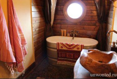 Ванная в домике хоббита