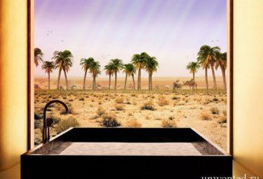 Ванная комната в современном эко доме