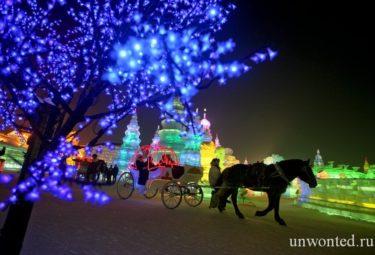 Прогулка в карете - фестиваль ледовых скульптур в Харбине
