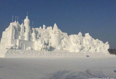Самые большие в мире снежные и ледовые скульптуры