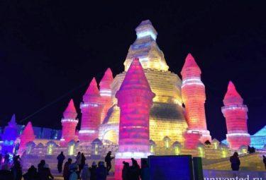 Замок изо льда - фестиваль ледовых скульптур