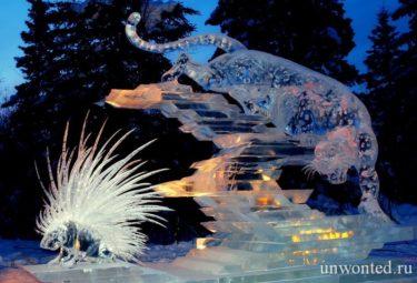 Смелые ледяные скульптуры Дзюнъити Накамура - Prickly Reception