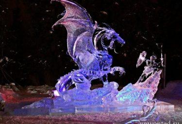 Fighter - ледяные скульптуры Дзюнъити Накамура