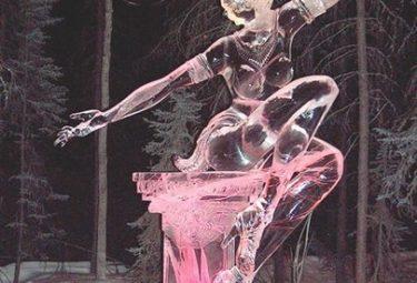 The Earing - ледяные скульптуры Дзюнъити Накамура