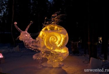 Fairy Tale - ледяные скульптуры Дзюнъити Накамура