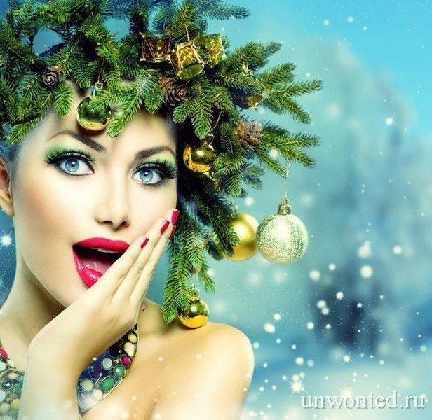 Новогодний венок украшение прически на новый год