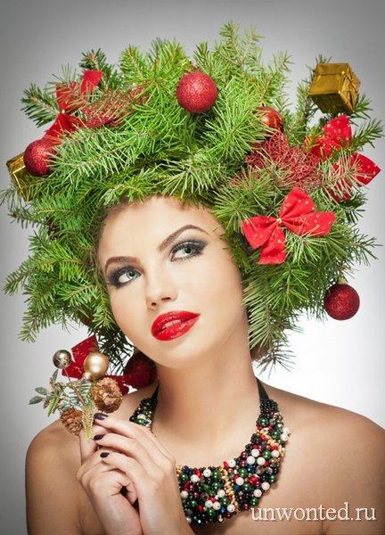 Новогодний венок для украшения новогодней прически
