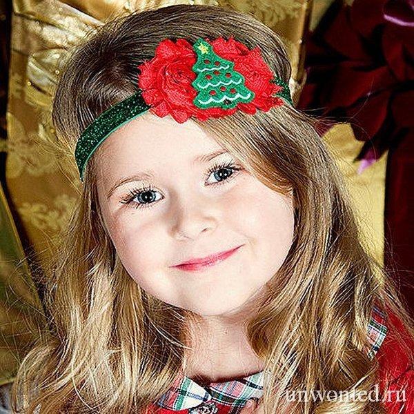 Прическа маленькому ребенку на новый год