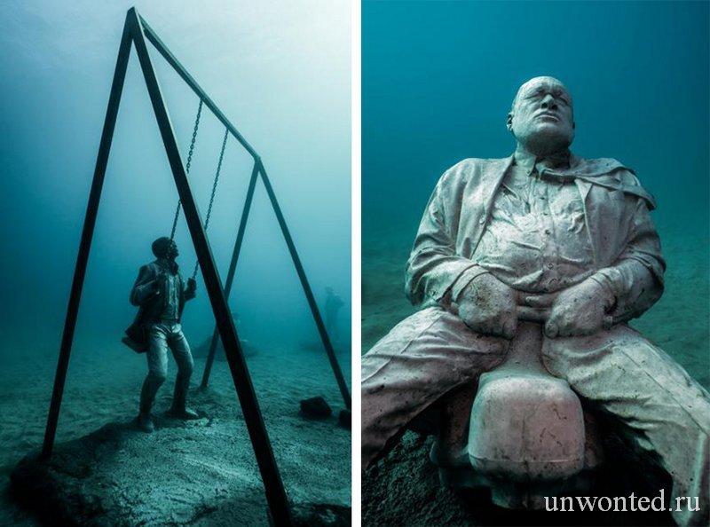 Подводная инсталляция - Детская угровая площадка, Джейсон де Кайрес Тэйлор