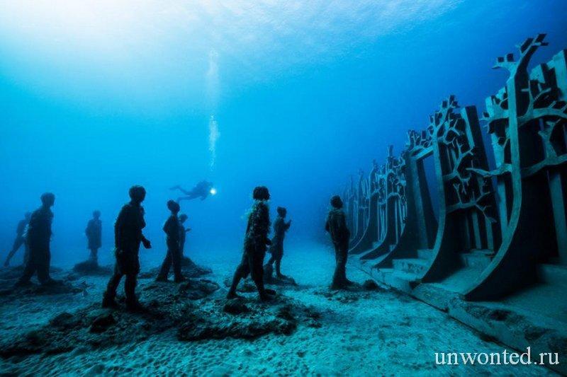 Удивительные подводные скульптуры острова Лансароте - Джейсон де Кайрес Тэйлор