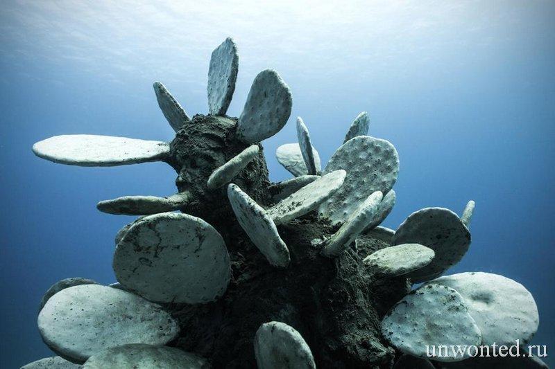 Подводная скульптура Человек Кактус - Cactus Man, Джейсон де Кайрес Тэйлор