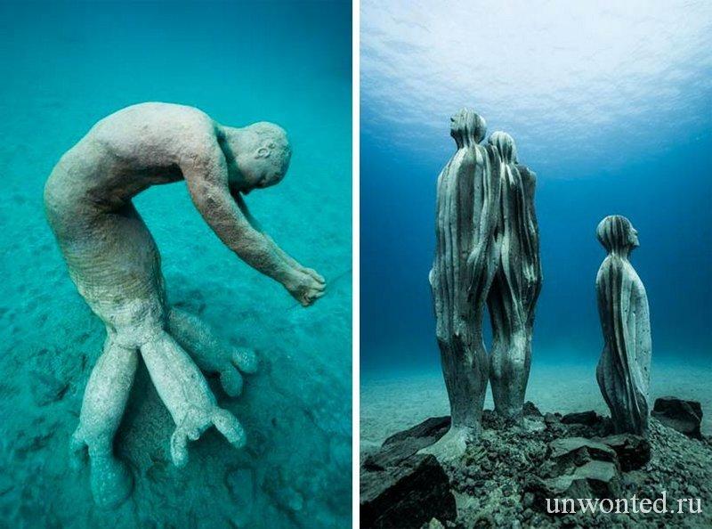 Поводные скульптуры Лес гибридов - Hybrid Forest Джейсон де Кайрес Тэйлор