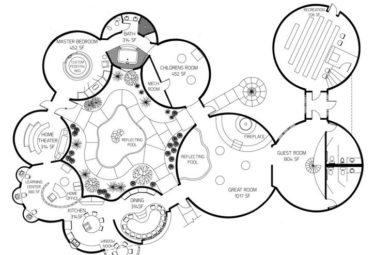 Проект здания из нескольких геодезических куполов