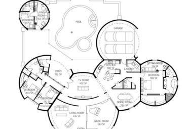 Проект дома из нескольких геодезических куполов
