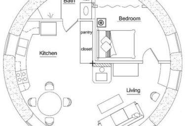Проект небольшого дома геодезического купола
