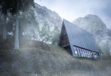Треугольный дом Cliff House на утесе