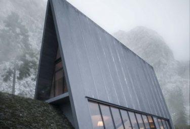 Дом треугольной формы Triangle Cliff House на утесе