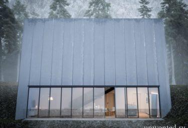 Концепт Треугольного дома Клифф-Хаус на вершине крутого склона