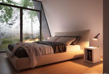 Спальня в Треугольном доме Cliff House
