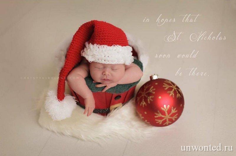 Вязаные новогодние костюмы для новорожденных