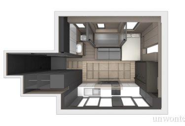 Планировка мест хранения в маленькой умной квартире