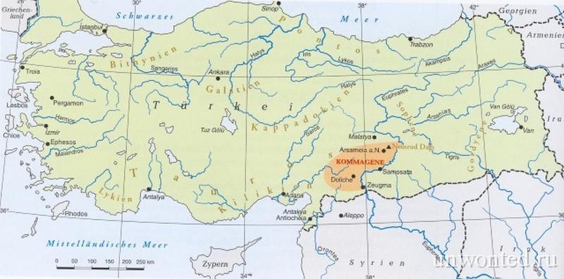 Территории царства Коммагены