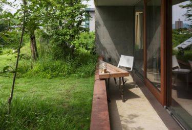 Терраса на крыше органического дома Greendo
