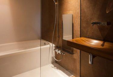 Ванная комната в доме на склоне горы Greendo