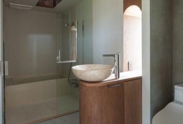 Интерьер ванной комнаты органических домов Greendo