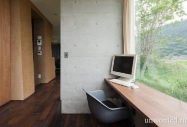 Рабочее место с понарамным видом - органический дом Greendo