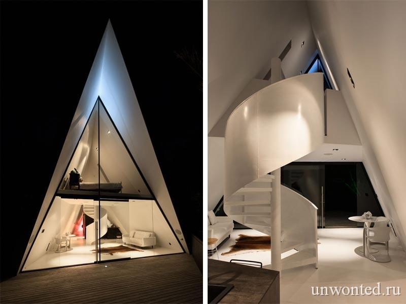 Светодиодное освещение дома треугольной формы Tent House