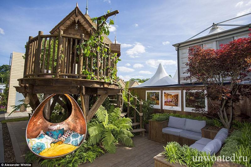 Роскошный домик на дереве Chelsea Flower Show