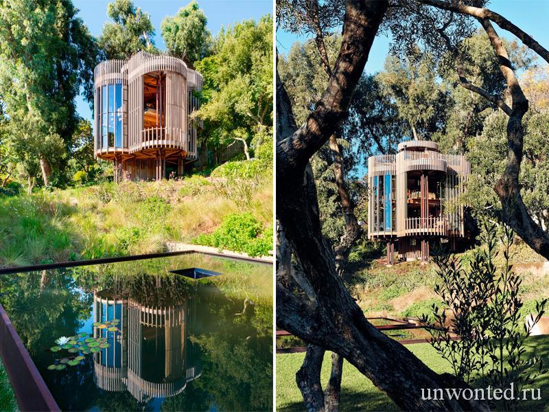 Ландшафт с квадратными прудами - Paarman Treehouse
