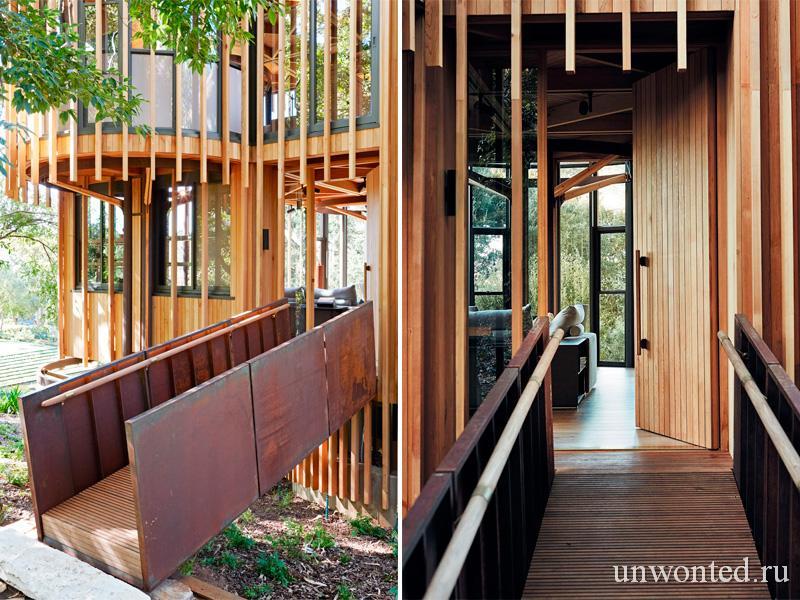 Пандус из кортен-стали и дерева - Paarman Treehouse