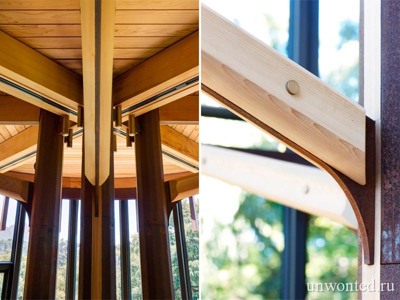 Стальные несущие колонны и элементы перекрытий Paarman Treehouse