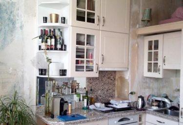 Кухня в маленьких апартаментах до ремонта