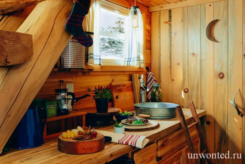 Кухня деревенской хижины эльфов