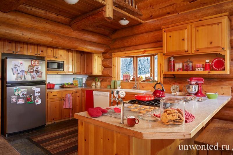 Кухня в скандинавском стиле в доме Санта Клауса