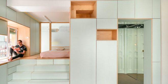 Компактная квартира со множеством творческих идей
