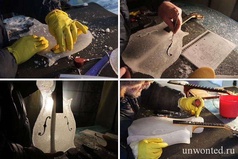 Тим Линхарт создает ледяные инструменты